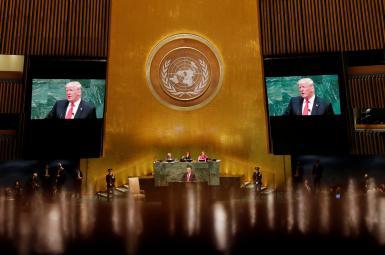 دونالد ترامپ، رییس جمهوری آمریکا در نشست مجمععمومی سازمان ملل متحد