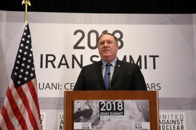 مایک پمپئو، وزیر خارجه آمریکا در نشست «اتحاد علیه ایران هستهای»
