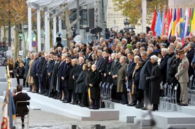 مراسم یادبود یکصدمین سالگرد پایان جنگ جهانی اول با حضور رهبران جهان