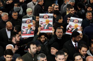 مجلس ترحیم نمادین برای جمال خاشقجی در مسجد فاتح استانبول