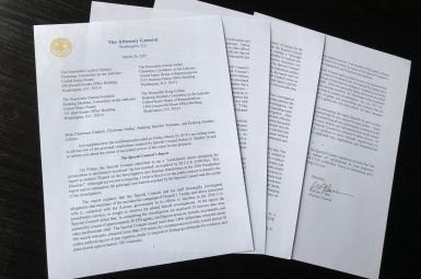 نامه ویلیام بار به کنگره در مورد نتایج تحقیق مولر