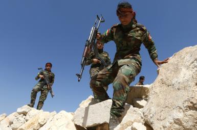 اردوی آموزش نظامی زنان کرد پیشمرگه ایرانی در اربیل