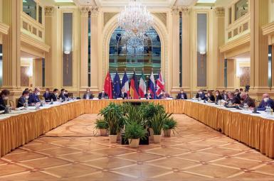 The JCPOA Joint Commission holding a meeting in Vienna. FILE
