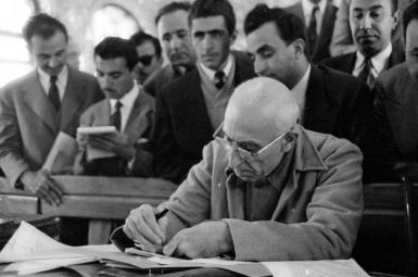 دکتر محمد مصدق، نخست وزیر وقت و رهبر نهضت ملی