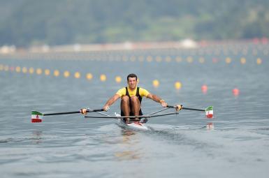 محسن شادی در مسابقات روئینگ بازیهای آسیایی اینچئون