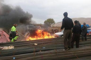 آتشسوزی در چادر