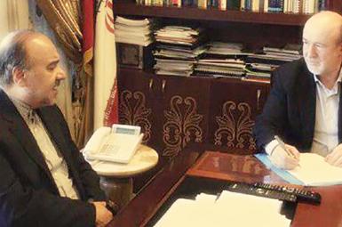 مسعود سلطانیفر در دیدار با سیدرضا افتخاری