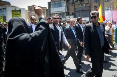 تظاهرات مردم تهران علیه روحانی
