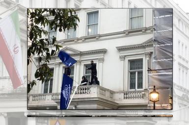 حمله هواداران آیت الله شیرازی به سفارت ایران درلندن