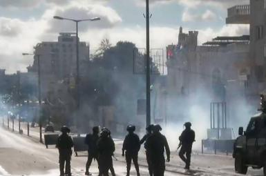درگیری میان پلیس اسرائیل و فلسطینیها