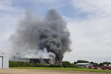 انفجار در فرودگاه «ساوت اِند» بریتانیا