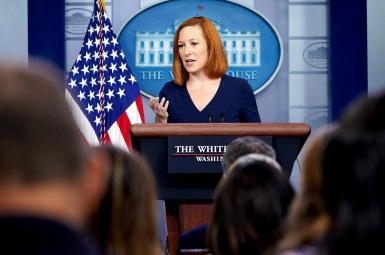 Jen Psaki, White House Press Secretary during a briefing. FILE