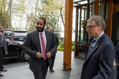 محمد بن سلمان، ولیعهد عربستان سعودی، در دیداری با بیل گیتس