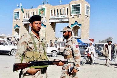 نیروهای مرزبان ایرانی نزدیک خاک پاکستان
