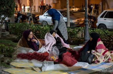 وضعیت مردم تهران پس از زلزله