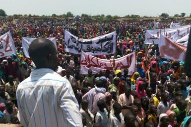 اعتراض پناهجویان دارفور به سفر عمر البشیر