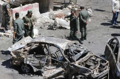 حمله انتحاری در مرکز دمشق سوریه