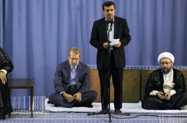 لاریجانی و احمدی نژاد