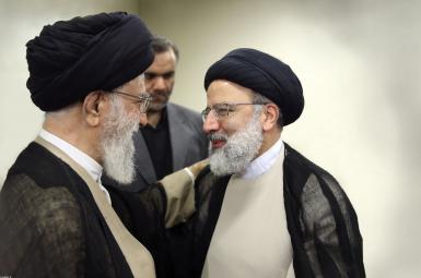 Iran's Supreme Leader Ali Khamenei and President-elect Ebrahim Raisi. FILE