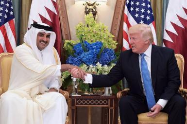 ترامپ و امیر قطر