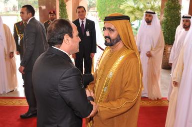 دیدار امیر دبی با رئیسجمهور مصر