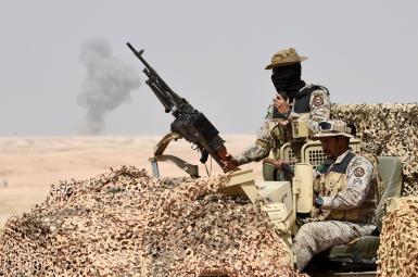 نیروهای ارتش عربستان در یک مانور نظامی