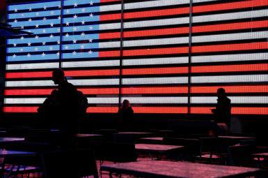 میدان تایمز نیویورک در روز انتخابات میاندورهای کنگره آمریکا