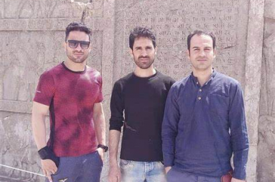 Navid Afkari (L) executed in September 2020 and his two brothers, Vahid (C) and Saeed. FILE PHOTO