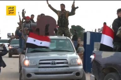 ورود کاروان نیروهای شیعی طرفدار اسد به عفرین