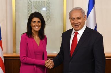 نیکی هیلی، نماینده آمریکا در سازمان ملل در دیدار با نخستوزیر اسرائیل