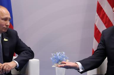 دونالد ترامپ، رییس جمهورآمریکا و ولادیمیر پوتین