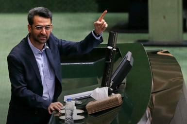 Iran's outgoing minister of communication, Mohammad-Javad Azari-Jahromi. FILE