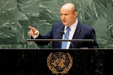 Israeli Prime Minister Naftali Bennet addressing the UN General Assembly. September 27, 2021