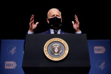 President Joe Biden visiting the National Institute of Health. February 11, 2021