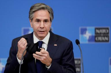 US Secretary of State Antony Blinken at NATO in Brussels. March 24, 2021