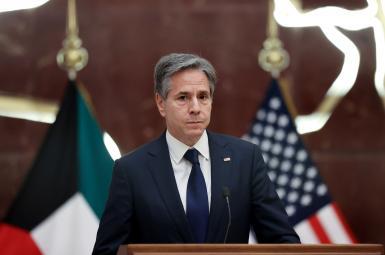 US Secretary of State visiting Kuwait. July 29, 2021