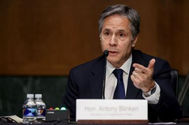 Secretary of State Antony Blinken testifies before the Senate Appropriations Committee on Capitol Hill. June 8, 2021.