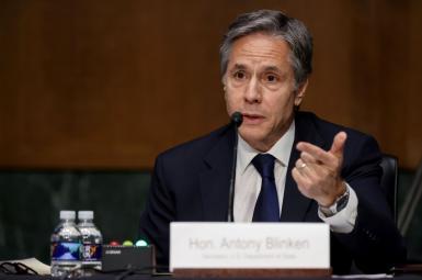 Secretary of State Antony Blinken testifying in Congress. FILEe