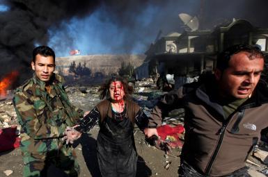 A Taliban bomb attack in Kabul, December 15, 2009