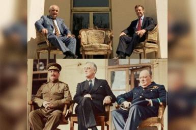 A controversial phot taken by the Russian and British ambassadors in Tehran, August 11, 2021