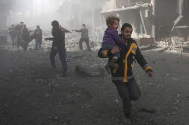 منطقه غوطه شرقی، در نزدیکی دمشق