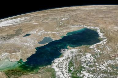 تصویر ماهوارهای دریای خزر
