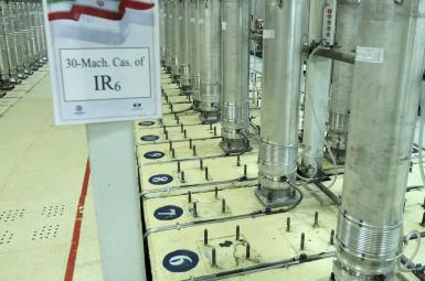 Uranium enrichment machines (cetrifuge) at an Natanz nuclear facility. FILE PHOTO