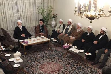 A group of Iranian Shiite clerics leading seminaries in Qom. FILE