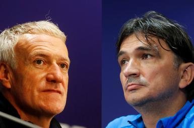 دیدیه دشان و زلاتکو دالیچ، سرمربیان تیمهای فرانسه و کرواسی