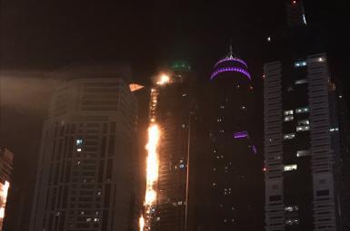 آتشسوزی در مارینا تورچ دوبی