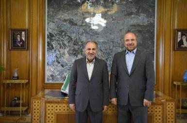 محمدباقر قالیباف، شهردار پیشین و محمدعلی نجفی، شهردار فعلی