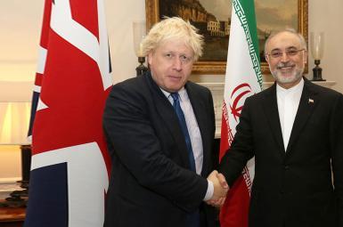 دیدار صالحی با وزیر خارجه بریتانیا در لندن