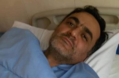 سعید ملکپور در بیمارستان طالقانی