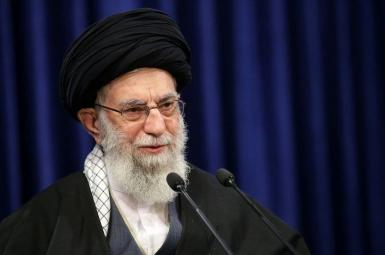 Iran's Supreme Leader Ali Khamenei delivering a speech. June 4, 2021